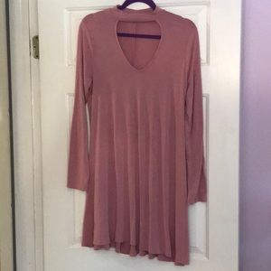 Flattering pink dress